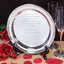 engraved silver platter personalized wedding silver plate engraved wedding invitation