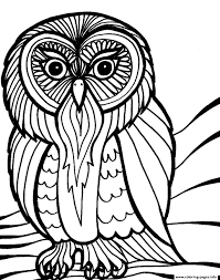 Printable Halloween Pages Scary Halloween Owl S8616 Coloring Pages Printable