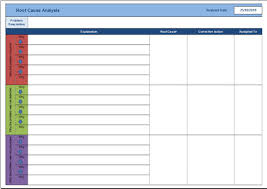 Root Cause Analysis Excel Template Free Root Cause Analysis Template For Excel 2007 2016