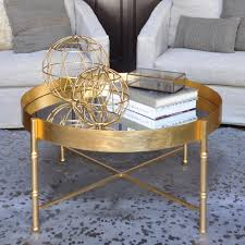 Tray Coffee Table by Worlds Away Margarey Gold Tray Coffee Table