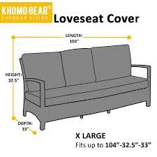 Waterproof Outdoor Patio Furniture Covers by Love Seat Cover Lounge Waterproof Outdoor Sofa Patio Black U2013 Onix