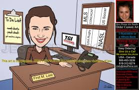 office worker birthday gift caricature caricatures and cartoons