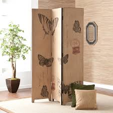 Tri Fold Room Divider Screens Fascinating Folding Screens Room Divider With Wooden Materials