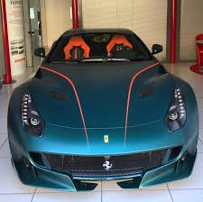 matte green ferrari ferrari f12 tdf painted in custom verde gb23 w green carbon fiber