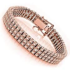 bracelet diamond men images Luxurman 10k 3 row prong set natural diamond bracelet jpg