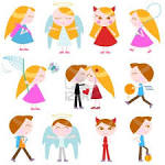 Cute Cartoon Kids Set Royalty Free Cliparts, Vectors, And Stock ...
