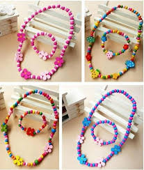 wood beads necklace designs images Children jewelry set girl mixed cute wood beads necklace bracelet jpg