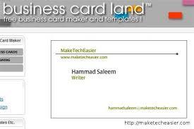 Free Design Business Cards Free Visiting Card Maker Online Backstorysports Com