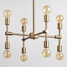 Chandelier Antique Gold Modular 8 Bulb Chandelier World Market
