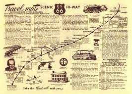 Route 66 Map How Long To Drive by Route 66 Songbook