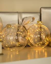 set of 3 led light ornaments balsam hill