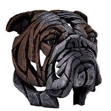 robert harrop edge bulldog sculpture ornaments