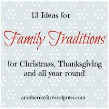 family tradition ideas thanksgiving she