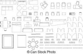 Floor Plan Furniture Clipart Furniture Illustrations And Stock Art 119 664 Furniture