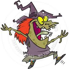 cartoon witch dancing by ron leishman toon vectors eps 12991