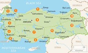Turkey Mountain Map Map Of Turkey Turkey Regions Rough Guides Rough Guides