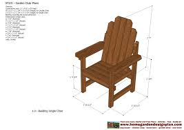 garden furniture design plans pleasing outdoor chair plans