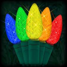 led net lights multi color led multi color christmas lights 50 c6 led strawberry style bulbs 6