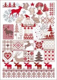 merry christmas sampler cross stitch kit sewandso christmas