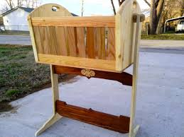 Pine And Oak Furniture Buy A Handmade Wooden Rocking Cradle In Cherry Oak And Pine