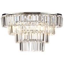 Debenhams Ceiling Lights Litecraft Prism 4 Tier Flush Ceiling Light Chrome