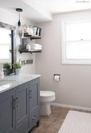 best ideas about bathroom pendant lighting pinterest industrial farmhouse bathroom reveal makeoversbathroom renovationsbathroom ideasgrey