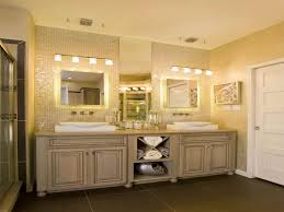 bathroom above mirror lighting interior design