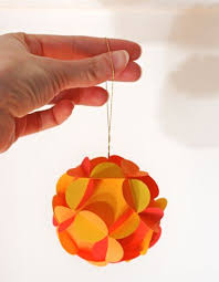 how to make 3d paper ornaments how about orange for the