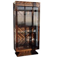 art deco china cabinet feathered ebony art deco display cabinet