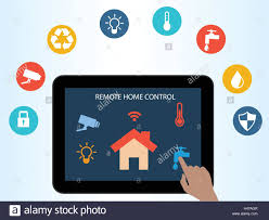 smart home technology concept of smart house technology remote home control online home