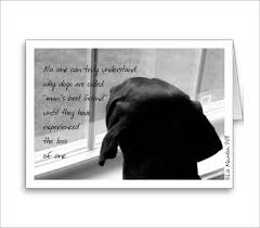 dog condolences sympathy card template 12 free printable word pdf psd eps