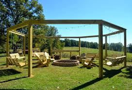 Pergola With Fire Pit by Little White House Blog October 2014