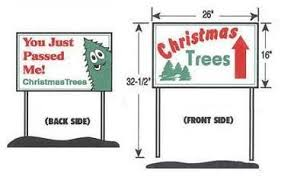 tree lot signs trees inc