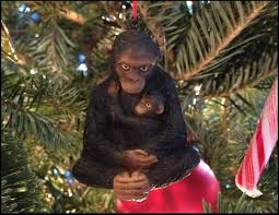 chimpanzee baby ornament darwin and wallace a nature