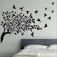 wall concrete feature tree vinyl wall stickers
