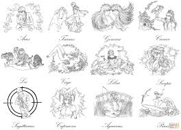 bleach zodiac signs by marvolo san coloring page free printable