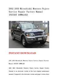 28 03 mitsubishi montero sport repair manual 95827