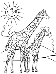 14 coloring pages of giraffe print color craft
