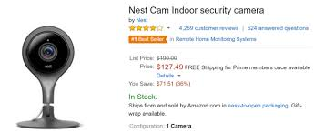 nexus 9 black friday amazon deal alert nest cam prices fall even lower at amazon indoor now