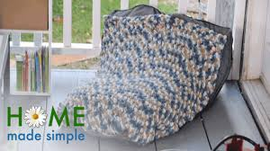 turn any old blanket into a bean bag chair home made simple