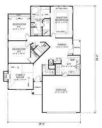 Ranch Floor Plans Astounding 6 Narrow Ranch House Plans Hemistone Lot Home Plan 055d