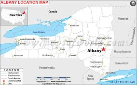 albany map where is albany located in york usa