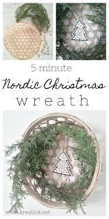5 minute nordic wreath kreativk