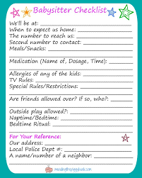 what to put on a babysitting resume best 25 babysitter checklist ideas on pinterest couple ideas