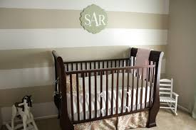 bedroom elegant baby nursery with stripe wall grey paint wall