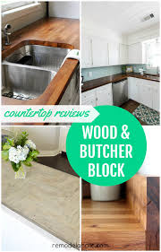 diy butcher block u0026 wood countertop reviews remodelaholic