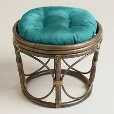 Barstool Cushions Furniture Wicker Chair Cushion World Market Papasan Papsan