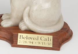 cat cremation resin porcelain style cat cremation urn with base sitting