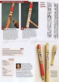whittling santa pencils wood carving patterns u2022 woodarchivist
