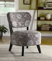 Fabric Accent Chair Grey And White Floral Fabric Accent Chair Coaster 900419 For Gray